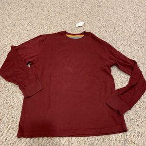Men's maroon sweatshirt